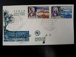 TCHAD-AERIEN-53-54-PREMIER-JOUR-EXPLORATEURS-BARTH-NACHTIGAL-2X100F-1969