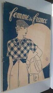 Rivista per Lettera Donna Di Francia 19 Mars 1933 N° 932 ABE