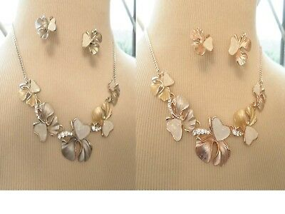 JCUK Fashion Jewellery Square Two Tone Necklace Silver Rose Statement