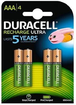 Fornito Duracell Recharge Ultra Aaa X 4 - 850mah/1.2v - Lr03 Sconto Del 50