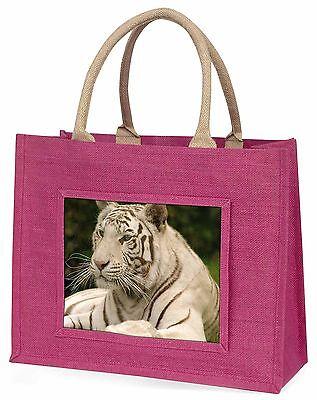 Weißer Tiger Große Rosa Einkaufstasche Weihnachten Geschenkidee, AT-48BLP