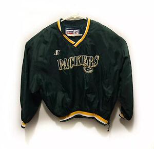 VTG-Logo-Athletic-NFL-Pro-Line-Green-Bay-Packers-Jacket-Coat-Mens-XL-Embroidered