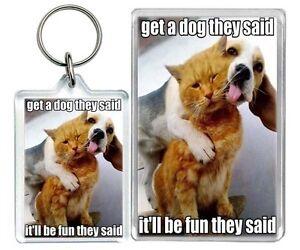 Get a chien ils said meme chat humour marrant porte cl - Chaton marrant ...