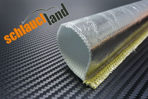1m Alu-Titan Hitzeschutzschlauch gk ID 40mm **** Wärmeschutz Kabelschutz Mantel