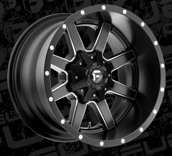 4 20x12 44 Fuel D538 Maverick Black Milled 8x170 Wheels Rims For
