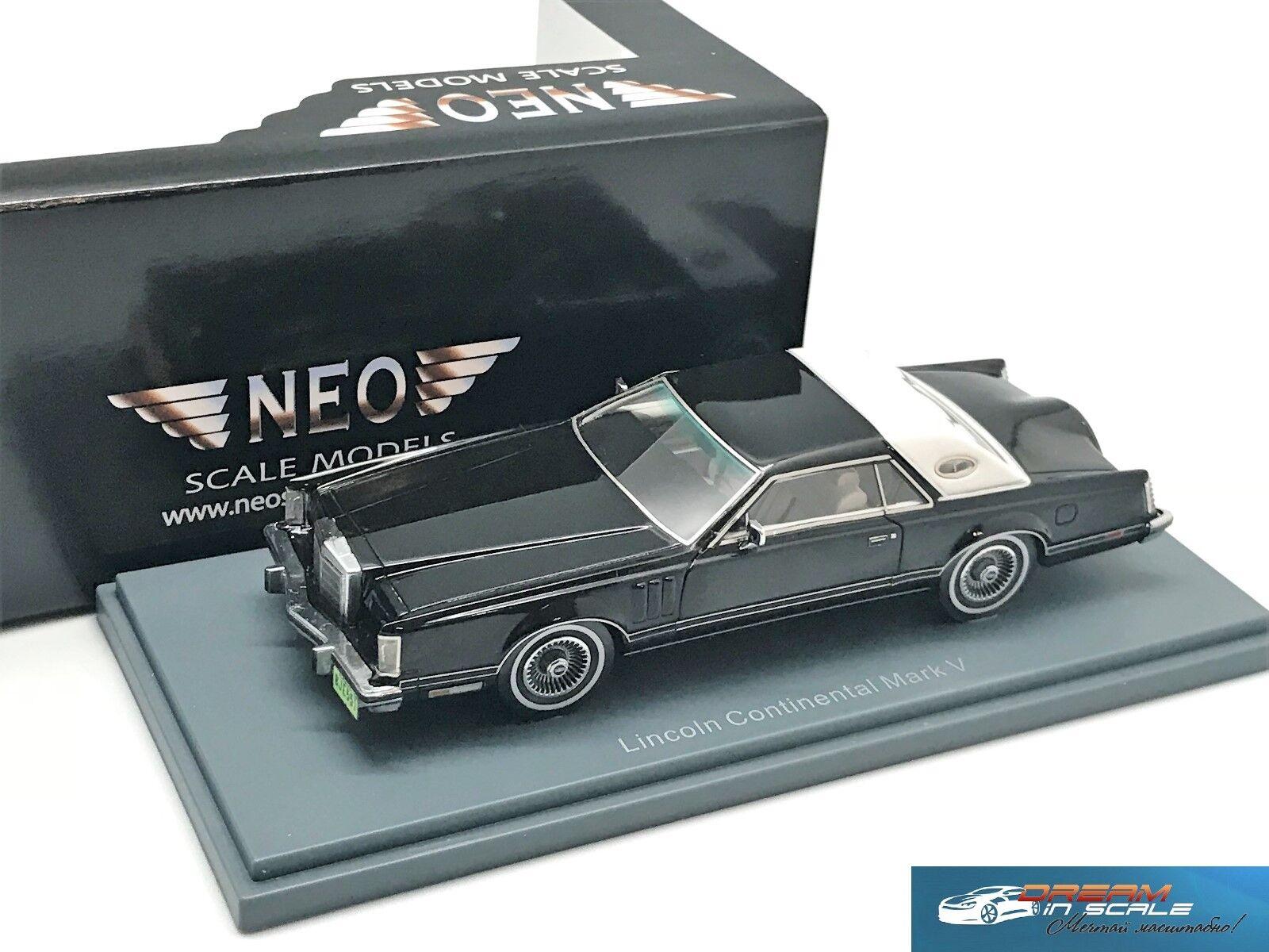 marca de lujo Lincoln MK5 Coupe Coupe Coupe blancoo sobre negro 1978 NEO43551 1 43  en promociones de estadios