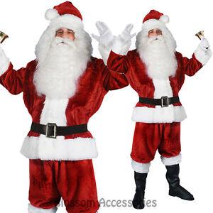 I7-Santa-Claus-Verlour-6pcs-Christmas-Xmas-Clause-Suit-Mens-Fancy-Dress-Costume