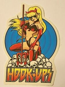 Hook-Ups-HOOK-UPS-Vintage-Skateboard-Sticker-Original-Genuine-Series-92481319
