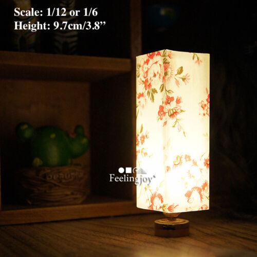 1//6 dollhouse Japanese style dummy rice paper shadow light retro bedroom lamp