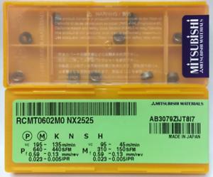 10pcs Mitsubishi RCMT0602M0 NX2525 R3 Carbide inserts