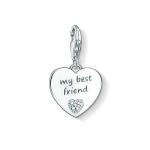 f69ba5b88901 NEW Thomas Sabo Sterling Silver Diamond My Best Friend Charm Pendant ...
