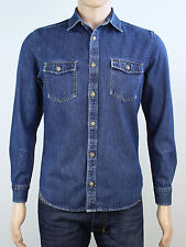 Burton mens size small blue denim long sleeve shirt