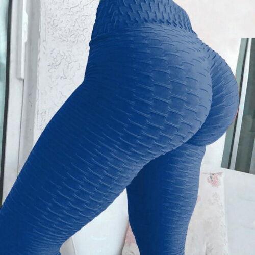 Women Ruched Push Up Leggings Yoga Pants Anti Cellulite Sports Squats Proof X265