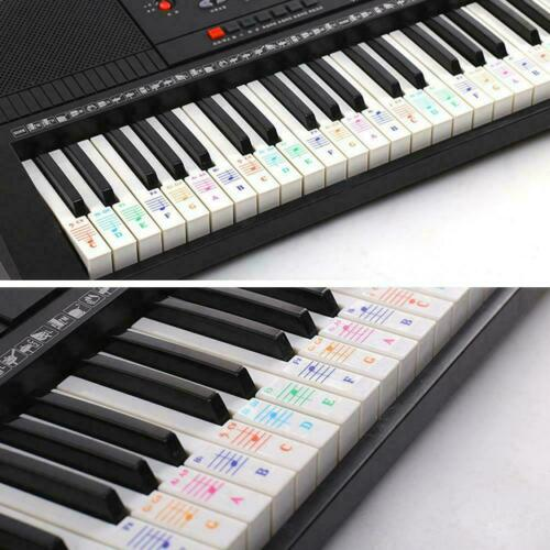 Music Keyboard //Piano Stickers 88//61//54//49 Key Set Learn Faster Beginner to M5B8