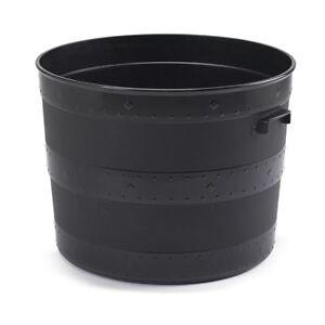 large blacksmith barrel planter black 50cm plant pot plastic indoor outdoor new ebay. Black Bedroom Furniture Sets. Home Design Ideas