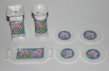 Barbie Living Pretty Sweet Roses jarrón platos para vitrina 90er años vintage decorativas
