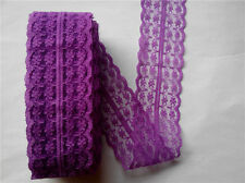 Beautiful 10-yard Dark purple  lace ribbons DIY clothing accessories decoration