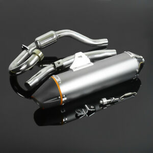430mm-Complete-Muffler-Exhaust-System-For-Yamaha-TTR230-2005-2016-New-Motorcycle