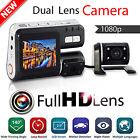 HD 1080P Dual Lens Car Vehicle DVR Camera Dashboard Video Record G Sensor Cam