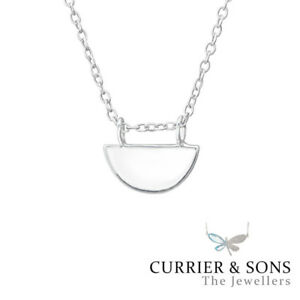 45cm // 18 inch 925 Sterling Silver Hexagon Pendant Necklace