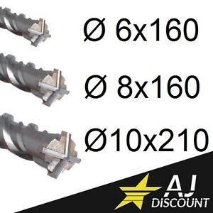Brique Mèche SDS-Plus cruciforme Ø 6-16 x 150mm pour Béton Pierree Foret
