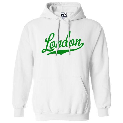 London Script /& Tail HOODIE Hooded School Sports Team Sweatshirt All Colors