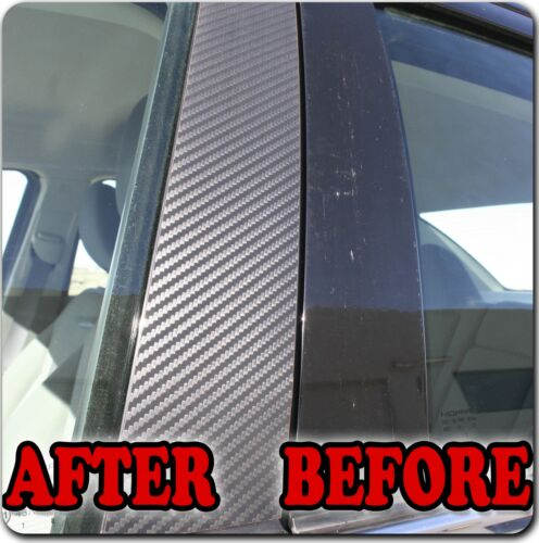 Di-Noc Carbon Fiber Pillar Posts for Volvo S60 01-10 6pc Set Door Trim Cover Kit