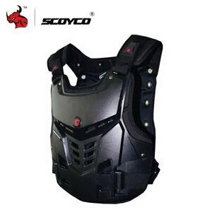 SCOYCO-BLACK-MOTOCROSS-MX-ENDURO-BMX-MOUNTAIN-BIKE-CHEST-PROTECTOR-SIZE-LARGE