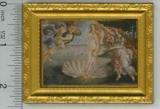 "Dollhouse Miniature Gold Framed Print of ""Birth of Venus"""