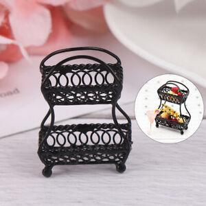 1-12-034-Scale-Black-Metal-Fruit-Basket-Dollhouse-Miniature-Furniture-Decor-yb