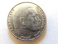 1937-A German Five (5) Reichsmark Silver Coin.