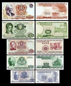 Norway - 2x 10 - 1.000 kroner-Edition 1962 - 1987 reproduction 03