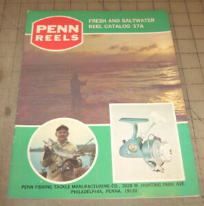 1975 PENN REELS Fresh and Saltwater Reel Catalog 37A - Great Graphics & Resource