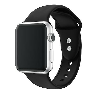 Apple Watch Replacement Band, Series 4 3 2 1, Silicone Sport Wrist Strap 38&42mm