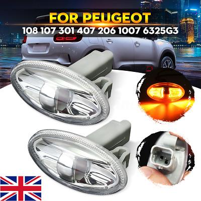 2x Peugeot 407 Genuine Osram Original Side Indicator Light Bulbs Pair