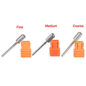 Image Is Loading Carbide Nail Drill Bit Round Top Grit Gel