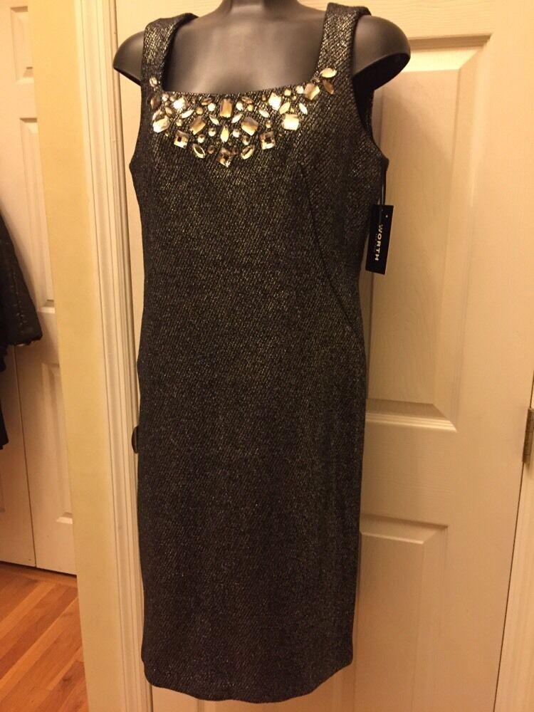 Worth New York  78% fundición estaño bronce lana cuerpo cono vestido SZ 6  Venta en línea de descuento de fábrica