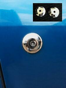 TWO-NEW-Ford-KA-SportKA-Fiesta-Mk3-RS-Turbo-XR2i-Stainless-Steel-Door-Lock-Cover