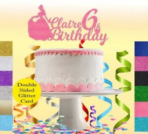 Image Is Loading PERSONALISED Princess Unicorn Birthday Cake Topper Kids Girls