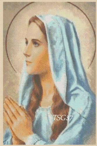 332 TSG37-GRATUIT UK p/&p No Cross Stitch Chart-La Madonna