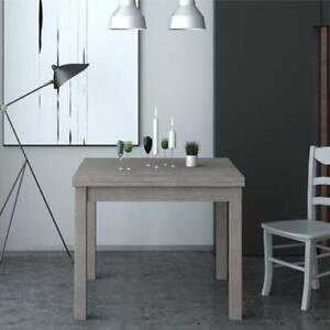 Dettagli su Tavolo da pranzo allungabile a libro tavoli cucina allungabili  90x90 cm grigio