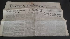 Nationalist journal action francaise 6 march 1934 no. 65 abe