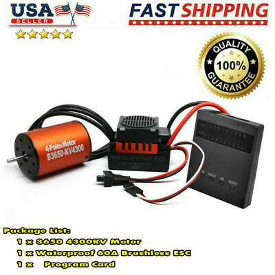 Brushless Motor ESC Combo Waterproof Support Program Card Low Voltage Cut-off