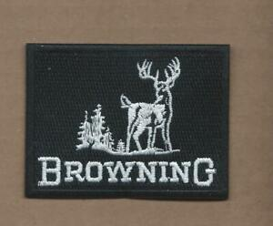 3 LOT BROWNING HUNTING GUNS Embroidered Iron Or Sewn On Patches Free Ship