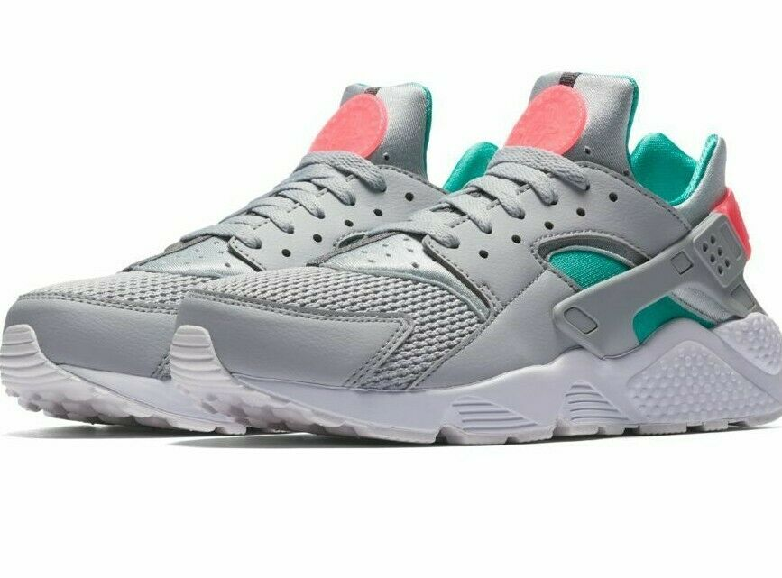 Nike Men's Air Huarache NEW AUTHENTIC Wolf Grey Sunset 318429-053