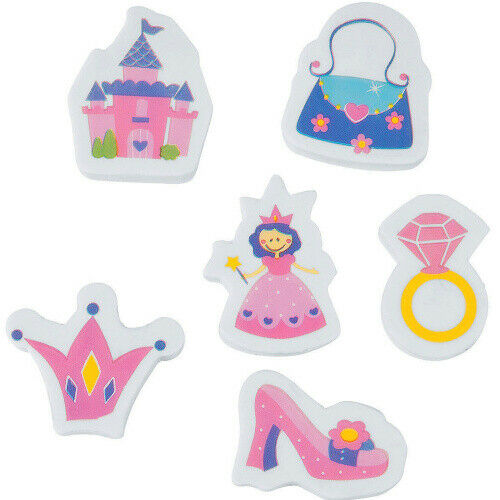 6x Mitgebsel Prinzessin Radierer Radiergummi Geschenktüte Giveaway Mädchen