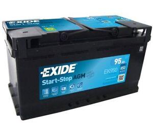 exide starter battery start stop agm ek950 ebay. Black Bedroom Furniture Sets. Home Design Ideas