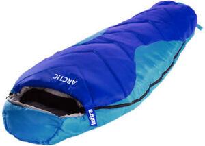 Mumienschlafsack-Loftra-Schlafsack-Winter-23-C-XXL-ARCTIC-Camping-Comfort-Blau