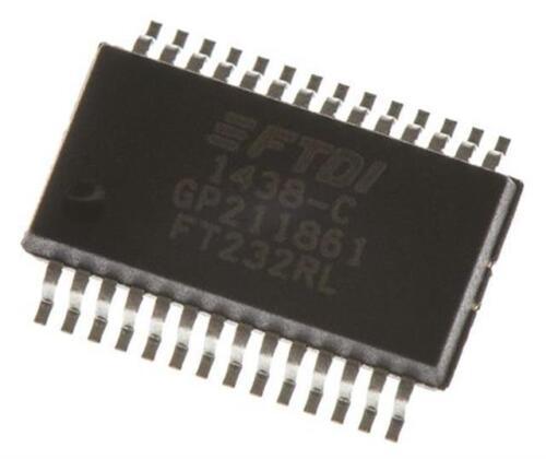 2 X FTDI Chip FT232RL TTL RS232 3MBd controlador USB USB 2.0 1.8-5.25 V SSOP 28