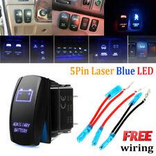 Boat Car Spot 2LED Light Laser Rocker Switch Backlit Blue On-Off Control Offroad